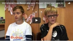 Wir unterstuetzen - Erion und Leon