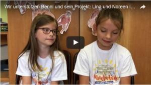 Wir unterstuetzen - Lina und Noreen